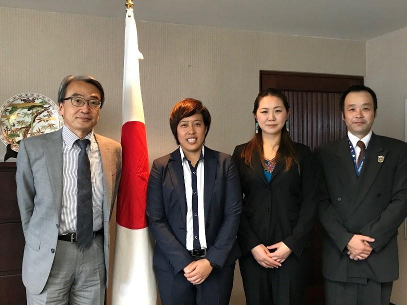 JICA海外協力隊員着任に伴う大使館訪問